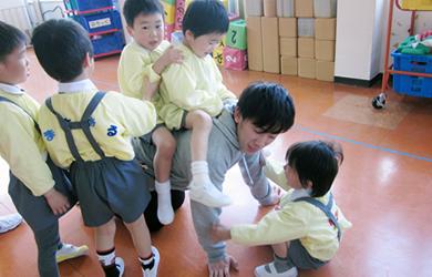 こじんまりとした小規模でゆっくりと保育をしている幼稚園